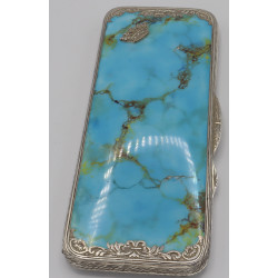 Box silver with Turquoise...